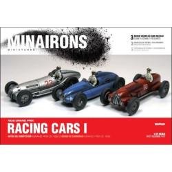 Racing cars I. Contiene 3 autos de competición y sus calcas. Escala 1:72. Marca Minairons miniatures. Ref: 20GPX001.
