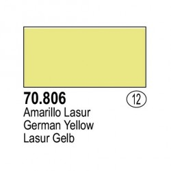 Acrilico Model Color, Amarillo Lasur, ( 012 ). Bote 17 ml. Marca Vallejo. Ref: 70.806.