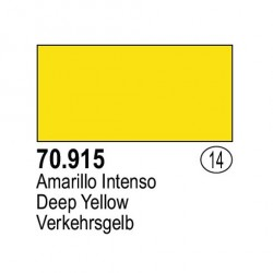 Acrilico Model Color, Amarillo Intenso, ( 014 ). Bote 17 ml. Marca Vallejo. Ref: 70.915.