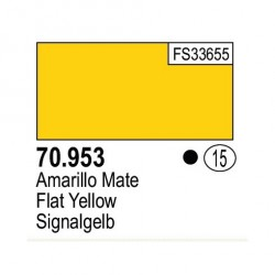 Acrilico Model Color, Amarillo mate, ( 015 ). Bote 17 ml. Marca Vallejo. Ref: 70.953.