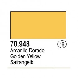 Acrilico Model Color, Amarillo Dorado, ( 016 ). Bote 17 ml. Marca Vallejo. Ref: 70.948.