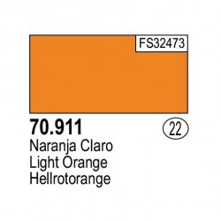 Acrilico Model Color, Naranja claro, ( 022 ). Bote 17 ml. Marca Vallejo. Ref: 70.911.