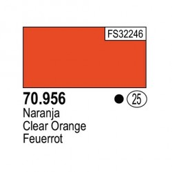 Acrilico Model Color, Naranja, ( 025 ). Bote 17 ml. Marca Vallejo. Ref: 70.956.