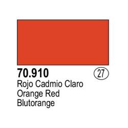 Acrilico Model Color, Rojo claro, ( 027 ). Bote 17 ml. Marca Vallejo. Ref: 70.910.