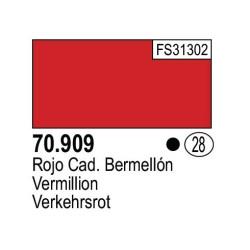 Acrilico Model Color, Bermellón, ( 028 ). Bote 17 ml. Marca Vallejo. Ref: 70.909.