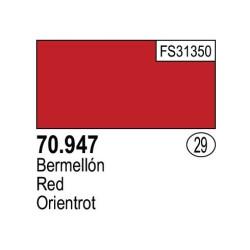 Acrilico Model Color, Bermellón oscuro, ( 029 ). Bote 17 ml. Marca Vallejo. Ref: 70.947.