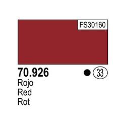 Acrilico Model Color, Rojo , ( 033 ). Bote 17 ml. Marca Vallejo. Ref: 70.926.