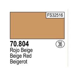 Acrilico Model Color, Rojo beige, ( 036 ). Bote 17 ml. Marca Vallejo. Ref: 70.804.