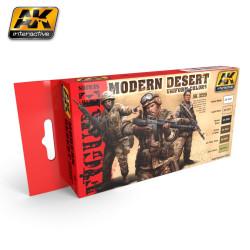 Set de colores para uniformes del desierto moderno. Marca AK Interactive. Ref: AK3220.