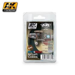 Set colores para aviones RFC Y RNAS de la WWI. Marca AK Interactive. Ref: AK2280.