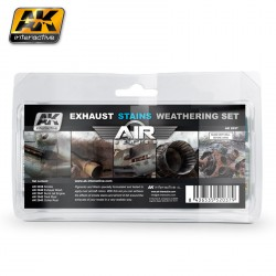 Set de desgaste de las manchas de escape ( serie air). Marca AK Interactive. Ref: AK2037.