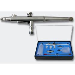 Set Aerógrafo 131T doble acción y agujas con diámetro 0,2 - 0,3 - 0,5 mm . Marca Ociomodell. Ref: 34152.