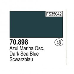 Acrilico Model Color, Azul marina oscuro, ( 048 ). Bote 17 ml. Marca Vallejo. Ref: 70.898.
