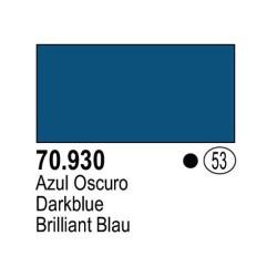 Acrilico Model Color, Azul oscuro, ( 053 ). Bote 17 ml. Marca Vallejo. Ref: 70.930.