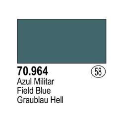 Acrilico Model Color, Azul militar, ( 058 ). Bote 17 ml. Marca Vallejo. Ref: 70.964.