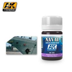 Producto naval weathering, Lavado gris claro para buques. Bote de 35 ml. Marca AK Interactive. Ref: AK305.
