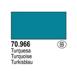 Acrilico Model Color, Turquesa, ( 069 ). Bote 17 ml. Marca Vallejo. Ref: 70.966.