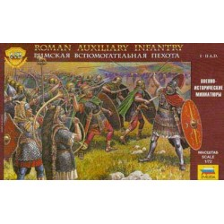 Figuras de la infantería auxiliar romana I-II A.D.. Escala 1:72.  Marca Zvezda. Ref: 8052.