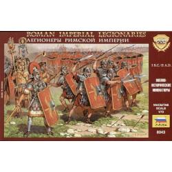 Figuras de legionarios Imperiales romanos, I.BC - II A.D.. Escala 1:72.  Marca Zvezda. Ref: 8043.