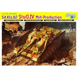 Carro de combate, Sd.Kfz.167 StuG.IV ( Mid-Production ).  Escala 1:35. Marca Dragon. Ref: 6582.