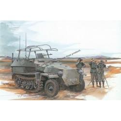 Carro de combate, Sd.Kfz.251/6 Ausf.C ( command vehicle ).  Escala 1:35. Marca Dragon. Ref: 6206.