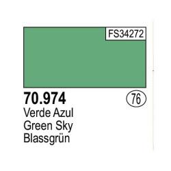 Acrilico Model Color, verde azul, ( 076 ). Bote 17 ml. Marca Vallejo. Ref: 70.974.