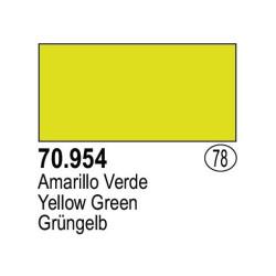Acrilico Model Color, Amarillo verde , ( 078 ). Bote 17 ml. Marca Vallejo. Ref: 70.954.
