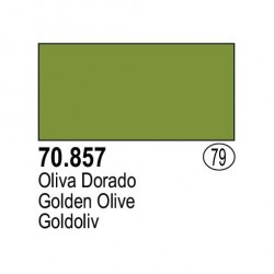 Acrilico Model Color, Oliva dorada, ( 079 ). Bote 17 ml. Marca Vallejo. Ref: 70.857.