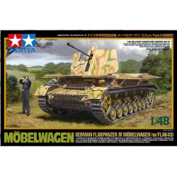 Carro de combate Flakpanzer IV Mobelwagen w/Flak43. Escala 1:48. Marca Tamiya. Ref: 32573.