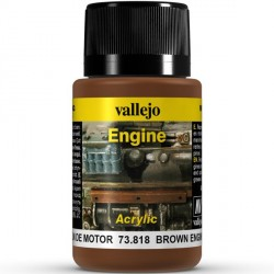 Weathering effects, Brown Engine Soot (hollín motor). Bote de 40 ml. Marca Vallejo. Ref: 73.818.