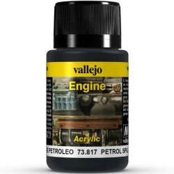 Weathering effects, Petrol Spills (Salpicadura de petróleo). Bote de 40 ml. Marca Vallejo. Ref: 73.817.