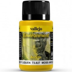 Weathering effects, Moss and Lichen (Musgo y Liquen). Bote de 40 ml. Marca Vallejo. Ref: 73.827.