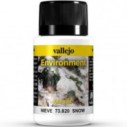 Weathering effects, Snow (Nieve). Bote de 40 ml. Marca Vallejo. Ref: 73.820.