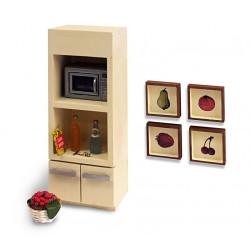 Armario de cocina con microondas. Marca Artesanía Latína. Ref: 11232.