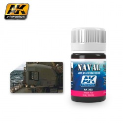 Producto naval weathering, Lavado para cubiertas grises. Bote de 35 ml. Marca AK Interactive. Ref: AK302.