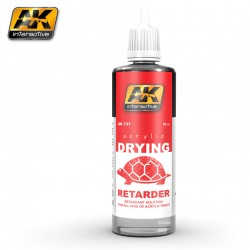 Retardador de secado para acrílicos (Drying Retarder). Cantidad 60 ml. Marca AK Interactive. Ref: AK 737.