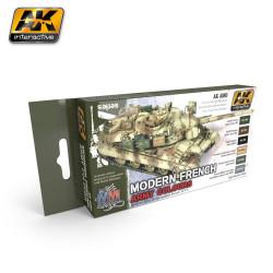 Set de colores del ejército Moderno francés. Marca AK Interactive. Ref: AK4080.