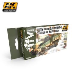 Set de colores para el Caunter Scheme, 1940-41. Marca AK Interactive. Ref: AK4030.