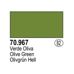 Acrilico Model Color, Verde Oliva, ( 082 ). Bote 17 ml. Marca Vallejo. Ref: 70.967.