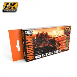 Set Acrílicos para Wargame, 4BO Russian green. Marca AK Interactive. Ref: AK1553.
