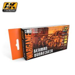 Set Acrílicos para Wargame, German Dunkelgelb. Marca Ak-Interactive. Ref: AK1552.