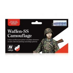 Set Model color, Waffen-SS Camuflaje. Bote 17 ml. Marca Vallejo. Ref: 70.180.