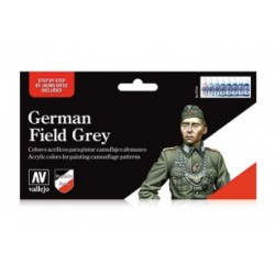 Set Model color, Uniforme alemán field grey. Bote 17 ml. Marca Vallejo. Ref: 70.181.