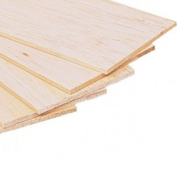 Plancha madera de balsa 100 x 1000 x 15 mm. Marca Dismoer. Ref: 35315.