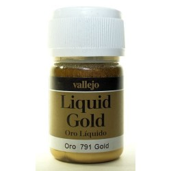 Liquid gold, Gold. Bote 35 ml. Marca Vallejo. Ref: 70.791.