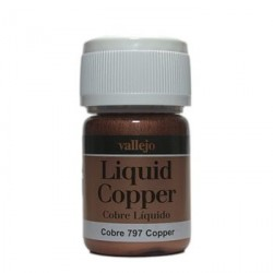 Liquid gold, Copper. Bote 35 ml. Marca Vallejo. Ref: 70.797.