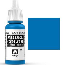 Acrilico Model Color, Azul fluorescente, ( 209 ). Bote 17 ml. Marca Vallejo. Ref: 70.736.