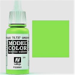 Acrilico Model Color, Verde fluorescente, ( 210 ). Bote 17 ml. Marca Vallejo. Ref: 70.737.