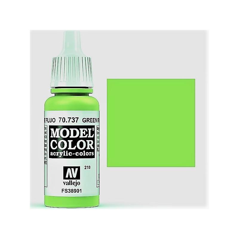 Acrilico Model Color, Verde fluorescente, ( 210 ). Bote 17 ml. Marca ...