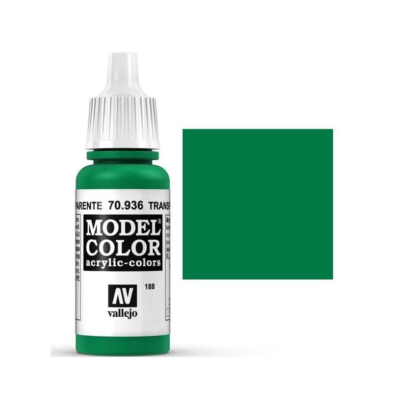 Acrilico Model Color, Verde transparente, ( 188 ). Bote 17 ml. Marca ...